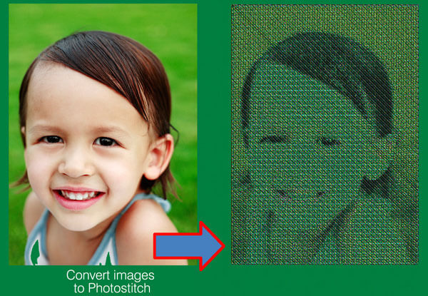 Convert images to Photostitch automatically