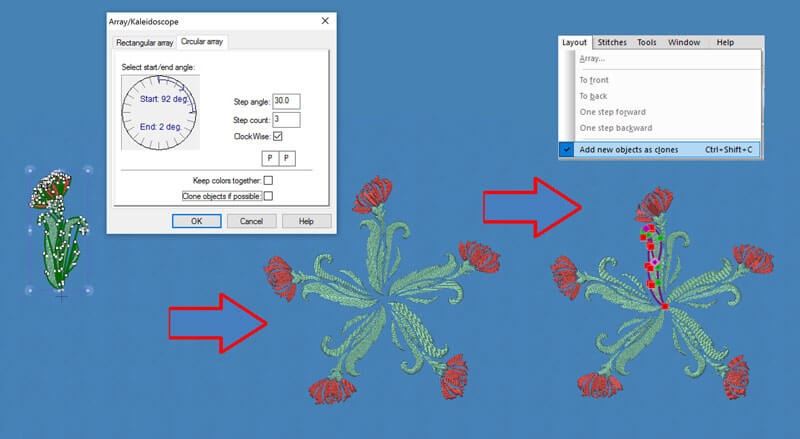 Wings' modular 6 embroidery software